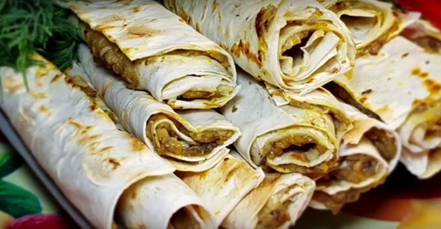 Постный перекус из лаваша: вкусно, сытно, просто