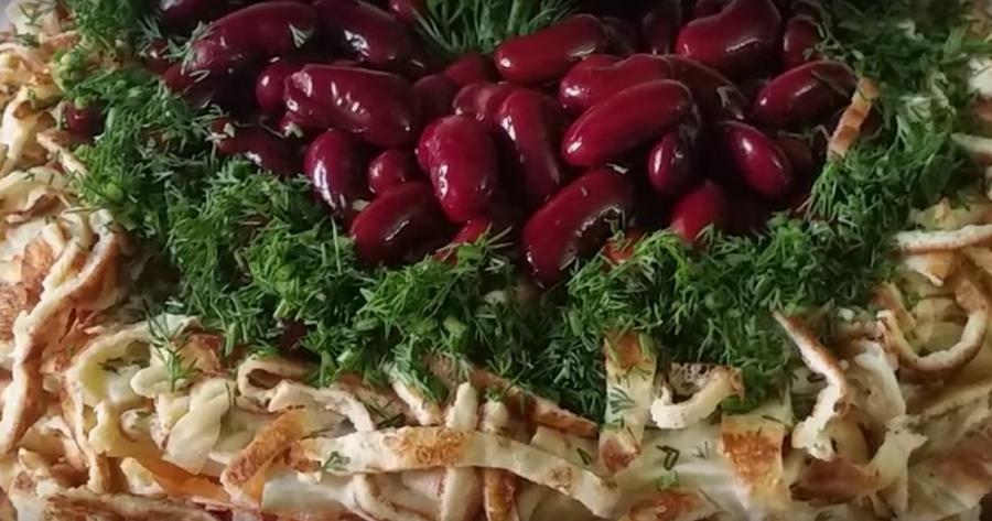 """Салат """"Сытный"""": отличное блюдо к ужину"""