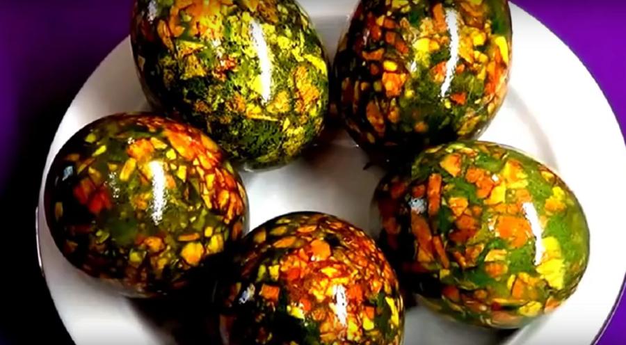 Как покрасить яйца на пасху? Делаем мраморные яйца: быстро и просто