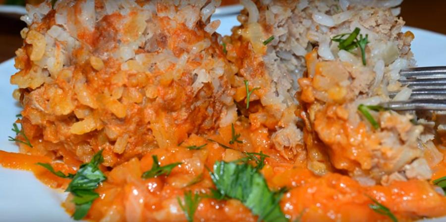 Мясные ежики - простой и вкусный ужин по -домашнему