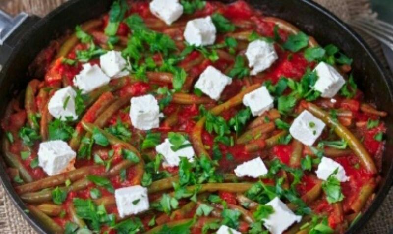 Вкуснейшая стручковая фасоль в томатном соусе