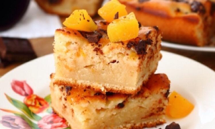 Потрясающий пирог с абрикосами