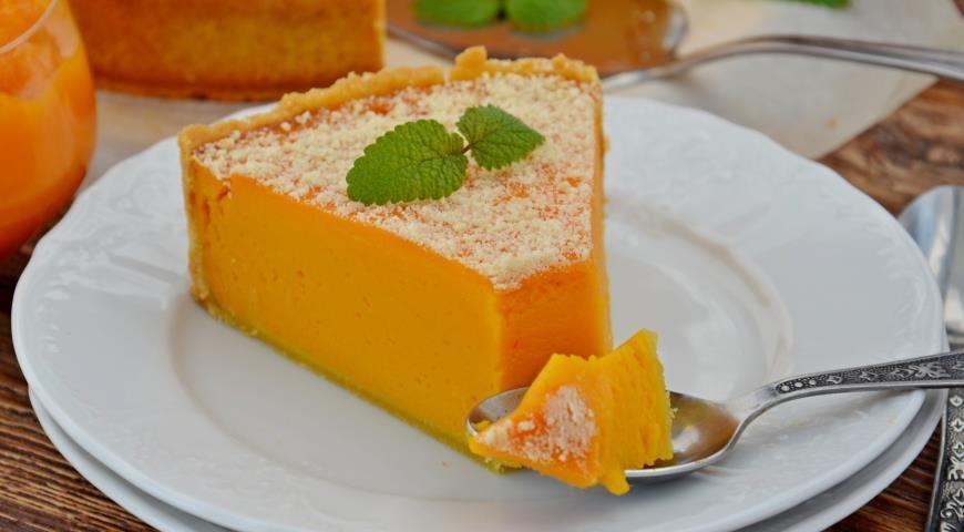 Легкий и вкусный пирог из тыквы