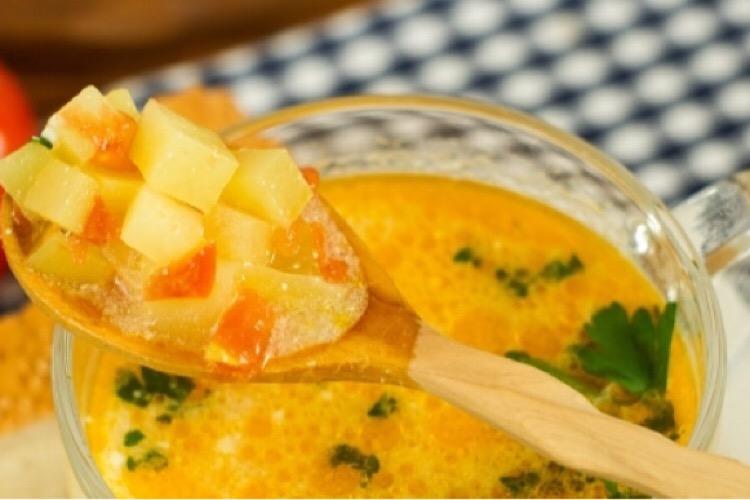Вкуснейший картофельно-томатный суп для сытного обеда