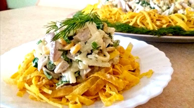 Пасхальный салат «Загадка»: просто объедение