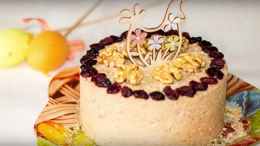 Творожная карамельная Пасха - почти как торт