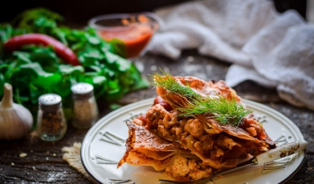 Потрясающе вкусная диетическая лазанья