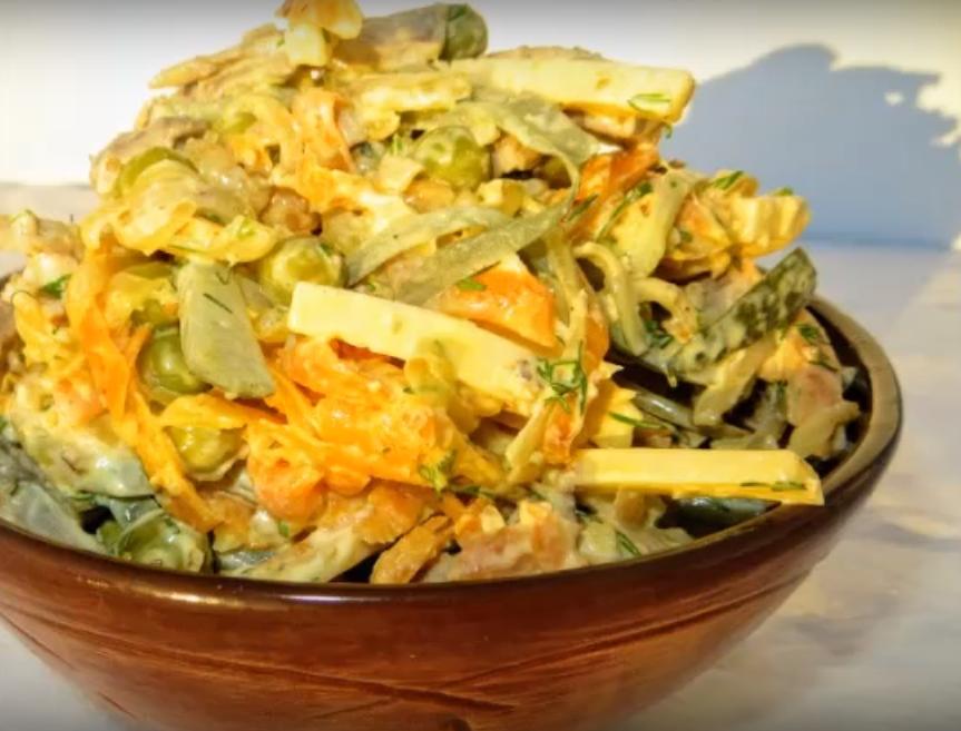 Мега вкусный салат - покорит вашего мужчину и украсит любой праздничный стол