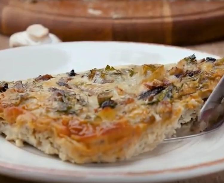 Очень вкусный пирог с грибами