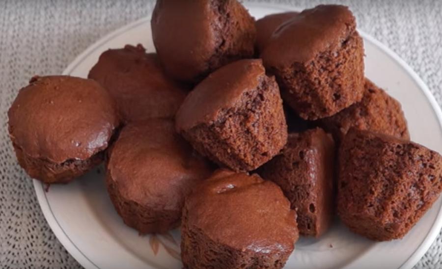 Шоколадные кексы на скорую руку