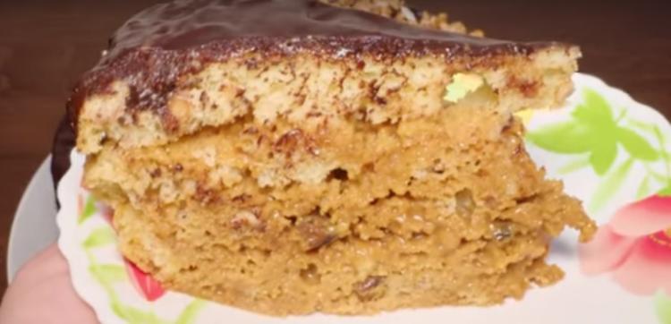 Готовим в мультиварке: отменный ореховый тортик
