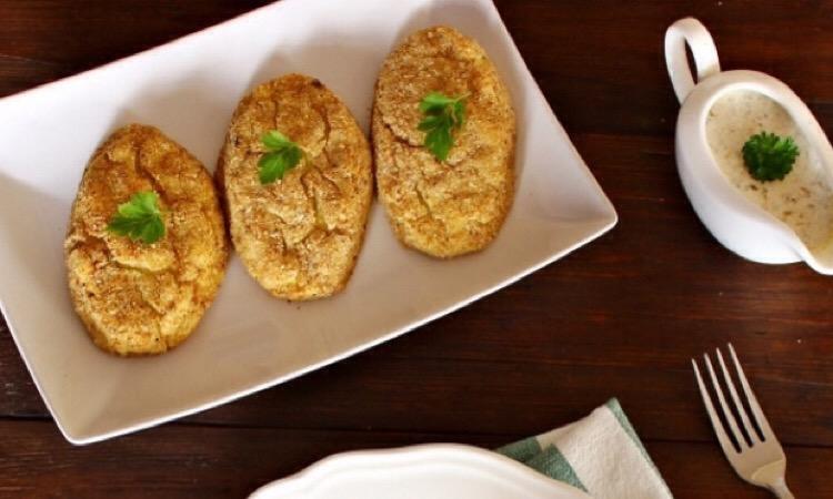 Вкусные и простые картофельные котлеты в духовке