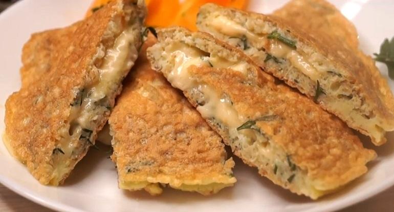 Овсяный блин с сыром: отличный вариант быстрого завтрака