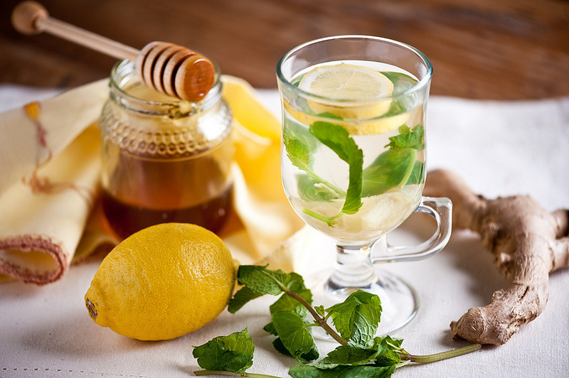 Жиросжигающий чай с лимоном и имбирем