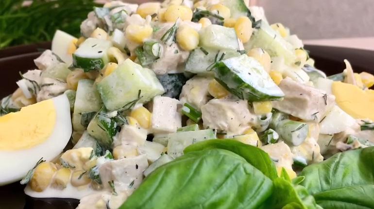 Весенний салат «Неразлучная парочка»: готовим за две минуты