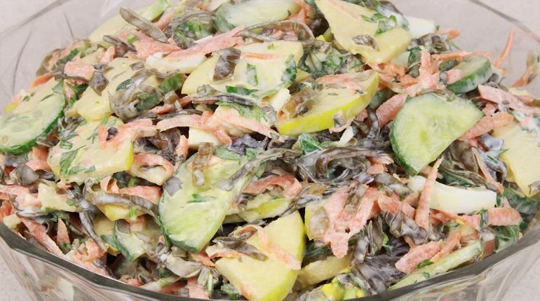 Витаминный салат из морской капусты: полезно и вкусно
