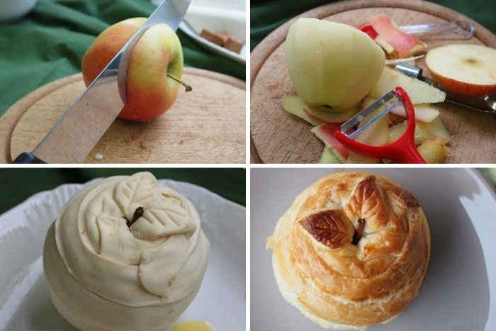 Восхитительный десерт: яблоки в тесте