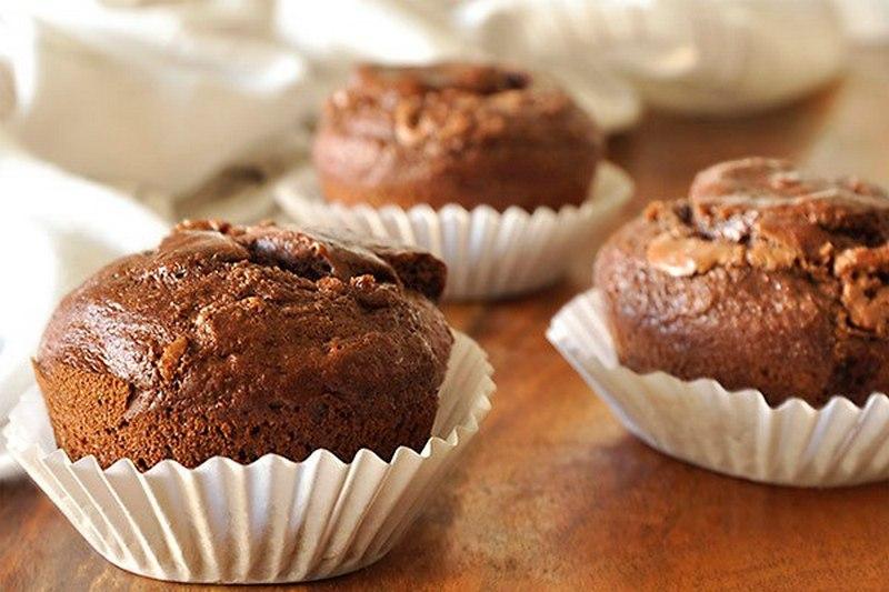 Шоколадно - банановые кексы: очень вкусный десерт