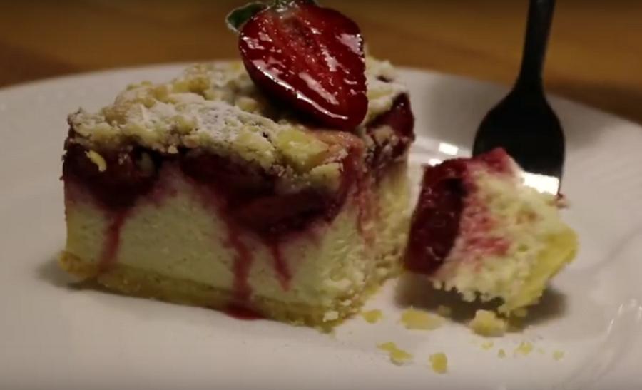 Чизкейк с клубникой или летний творожный пирог