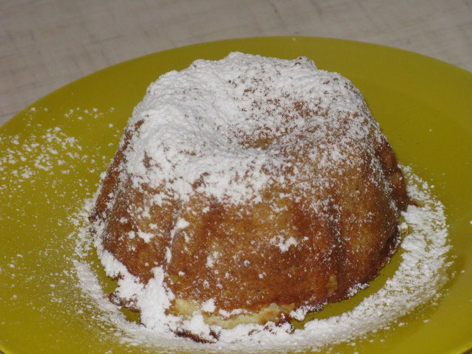 Аппетитный творожно - яблочный пудинг