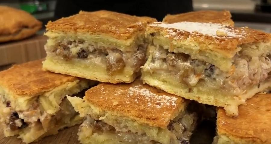 """Пирог """"В гости с вкусняшкой"""" безумно вкусно и быстро"""