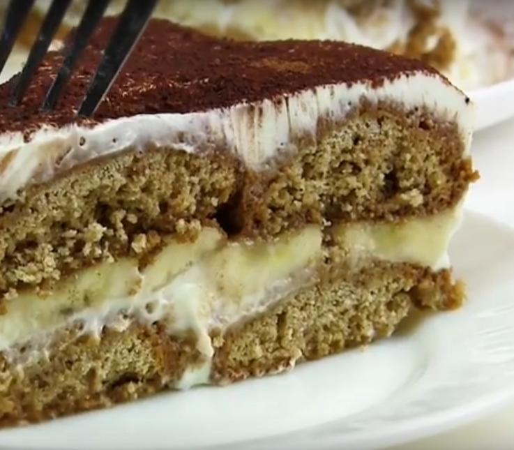 Бюджетный быстрый торт из печенья