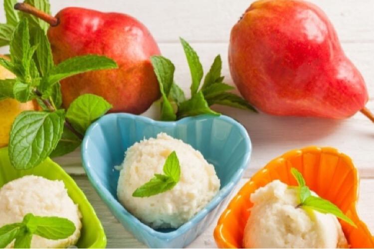 Вкуснейшее мороженое из груш с агар-агаром