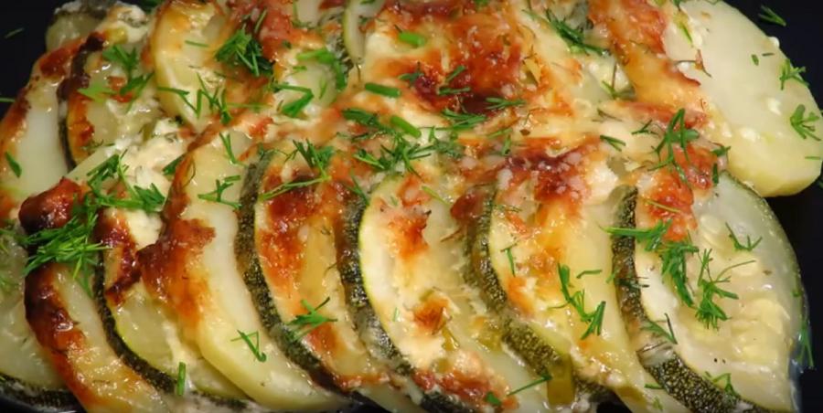 Изумительная картошка с молодыми кабачками