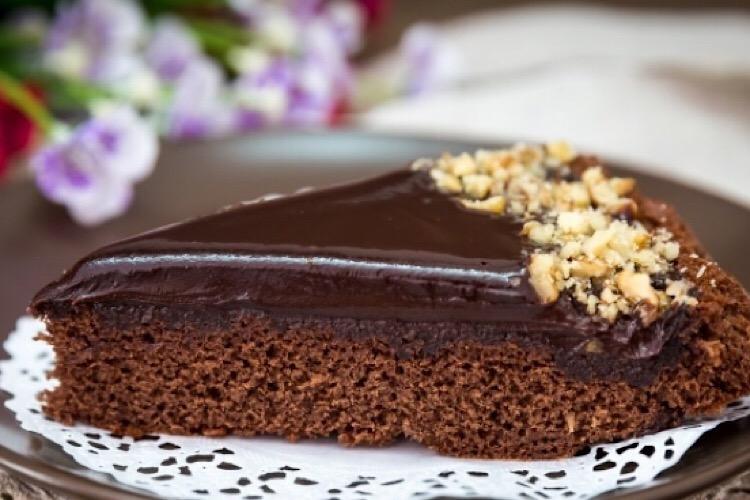 """Восхитительный торт """"Джандуйя"""" с шоколадным ганашем"""