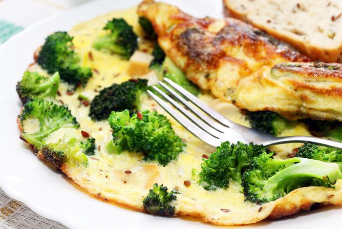 Очень вкусный и полезный омлет с брокколи