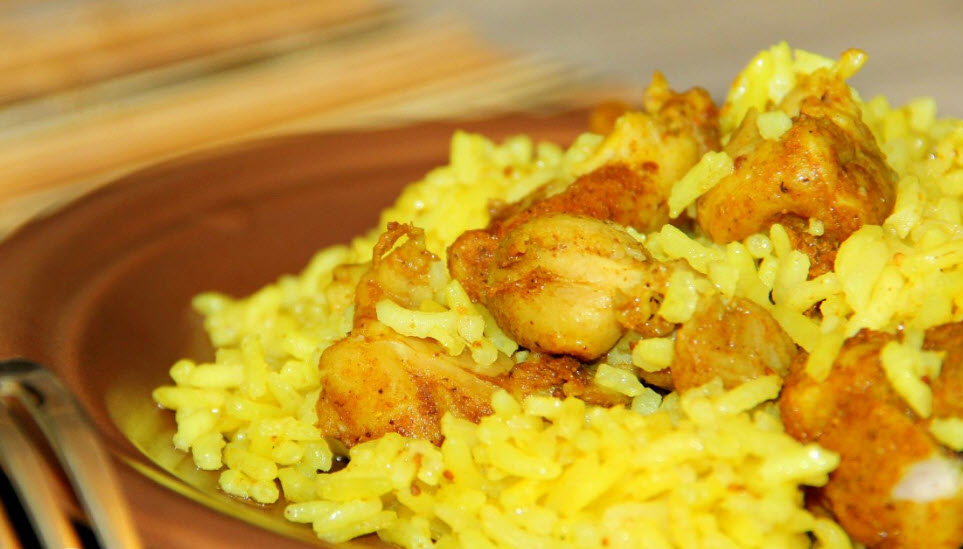 Персидский рис с курицей (готовим в мультиварке)