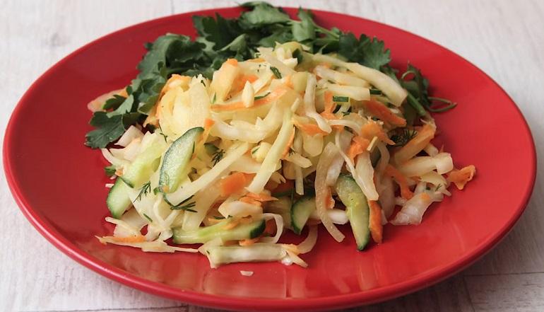 Овощные салаты к мясу и рыбе