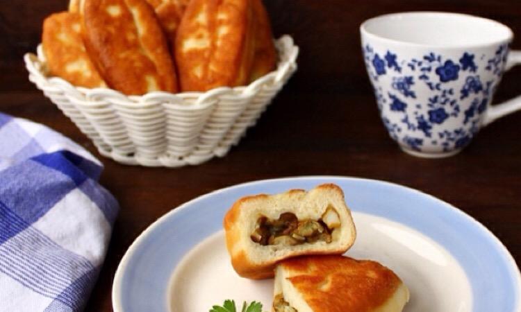 Вкуснейшие жареные пирожки с грибами