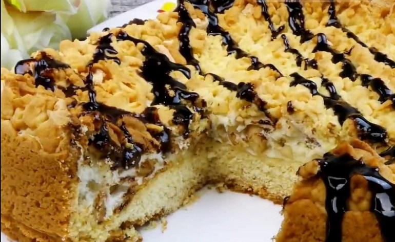Обалденный ореховый пирог «Мишка»