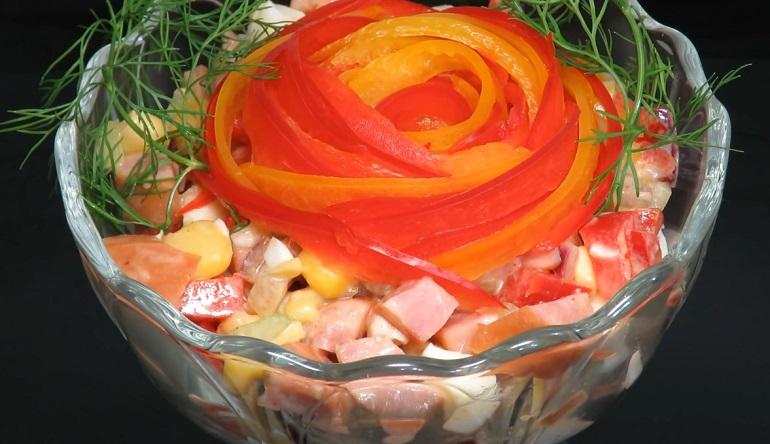 Охотничий мясной салат для мужчин: на столе долго не задерживается
