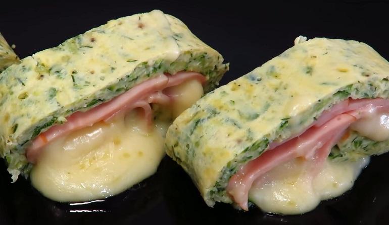 Рулет из кабачков с сыром и ветчиной: супер закуска на все случаи