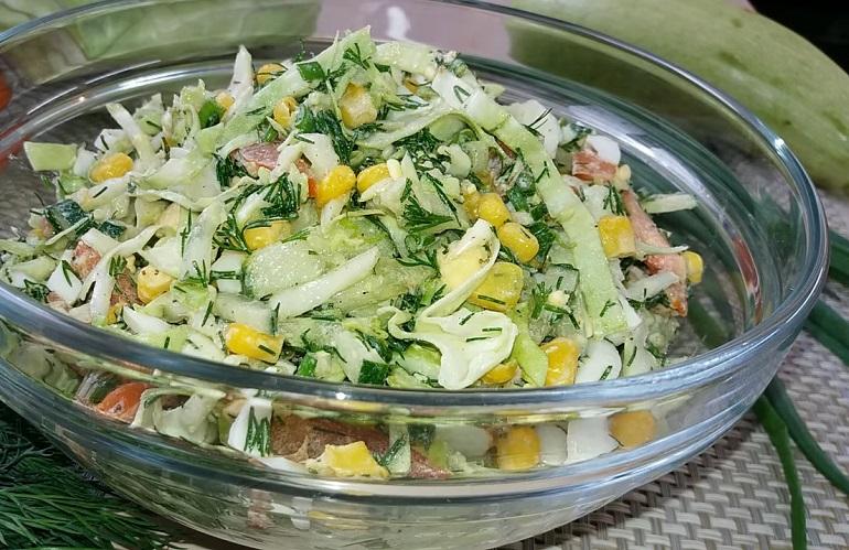 Салат из свежей капусты, без майонеза: мы по нему скучали