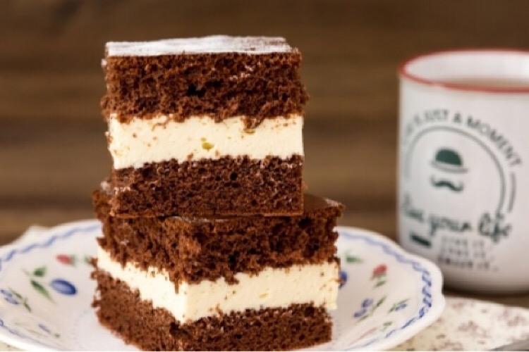 Потрясающий пирог с творожным муссом