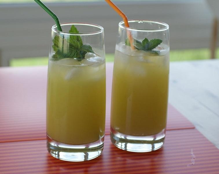 """Яблочный """"Мохито"""" - отличный напиток в жаркую погоду"""