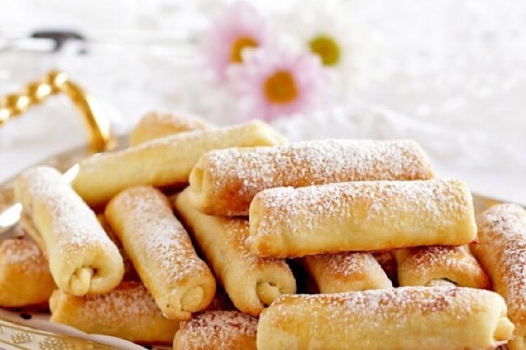 """Тающее во рту печенье """"Сигареты"""" с орехами"""