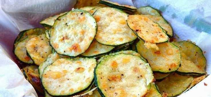 Полезные чипсы из кабачков