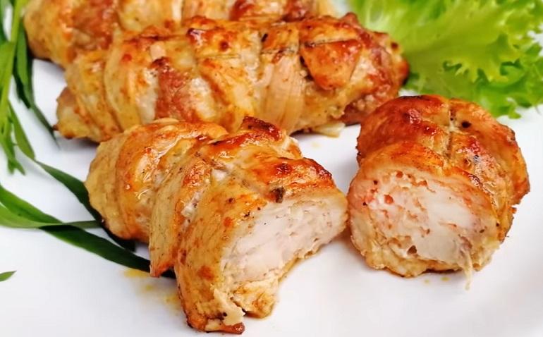 Мясные рулетики из свинины с куриным фаршем: полный восторг