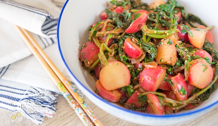Вкусная редиска по-корейски: вегетарианский салат