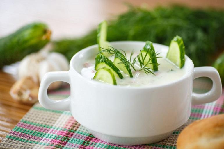 Холодный огуречный суп: лучший рецепт для похудения