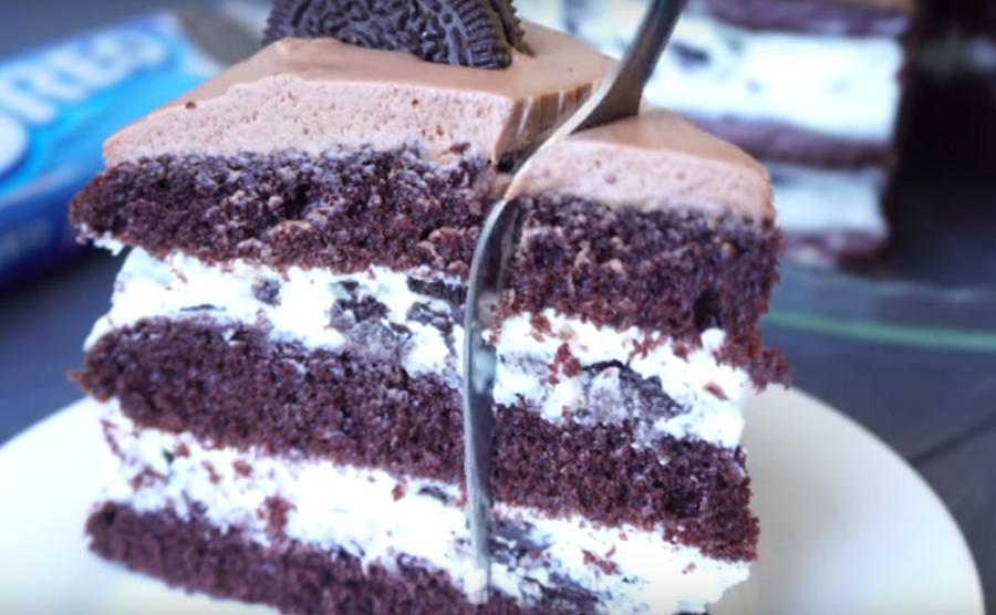 """Шикарный торт, вся фишка в креме - самый вкусный рецепт торта """"Орео"""""""