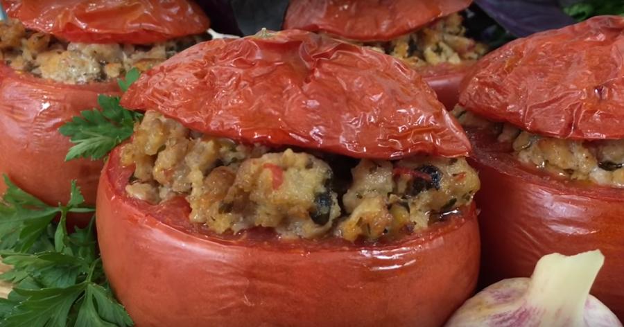 Фаршированные помидоры по-провански! Что может быть вкуснее в сезон помидоров