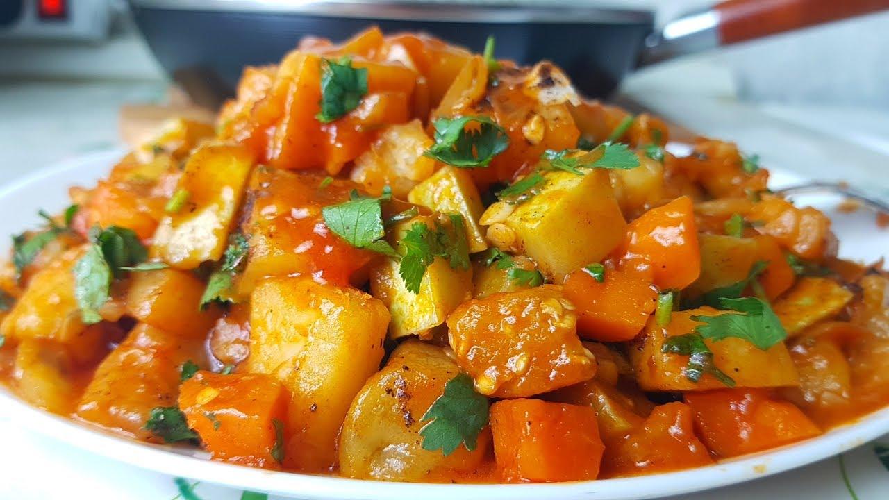 Аппетитное овощное рагу с баклажанами и кабачками (готовим на зиму)