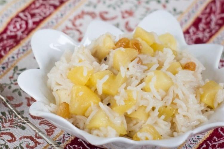 Потрясающе вкусный рис с яблоками