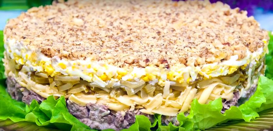 """Салат с говядиной """"Принц"""": вкусный и сытный"""