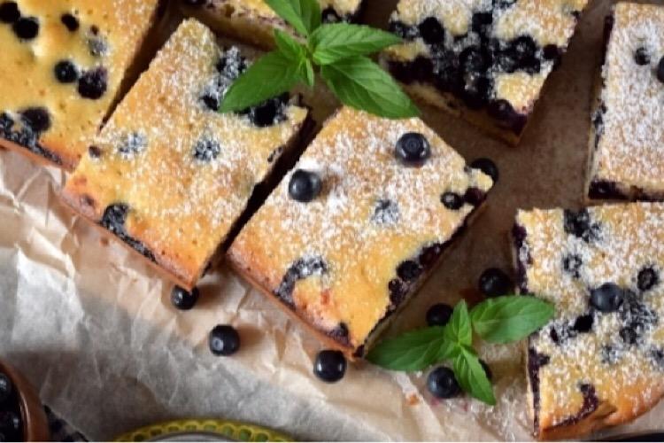 Восхитительный финский пирог с черникой